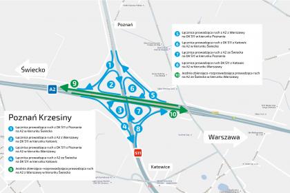 Utrudnienia w ruchu na węźle Krzesiny – Poznań