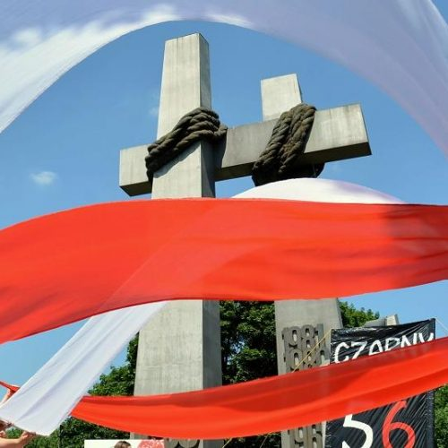 Młodzież zakończyła honorową wartę pod Poznańskimi Krzyżami