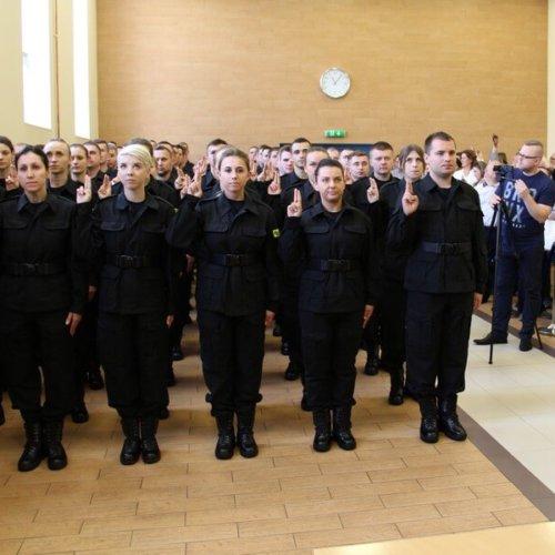 ŚLUBOWANIE NOWO PRZYJĘTYCH W SZEREGACH WIELKOPOLSKIEJ POLICJI