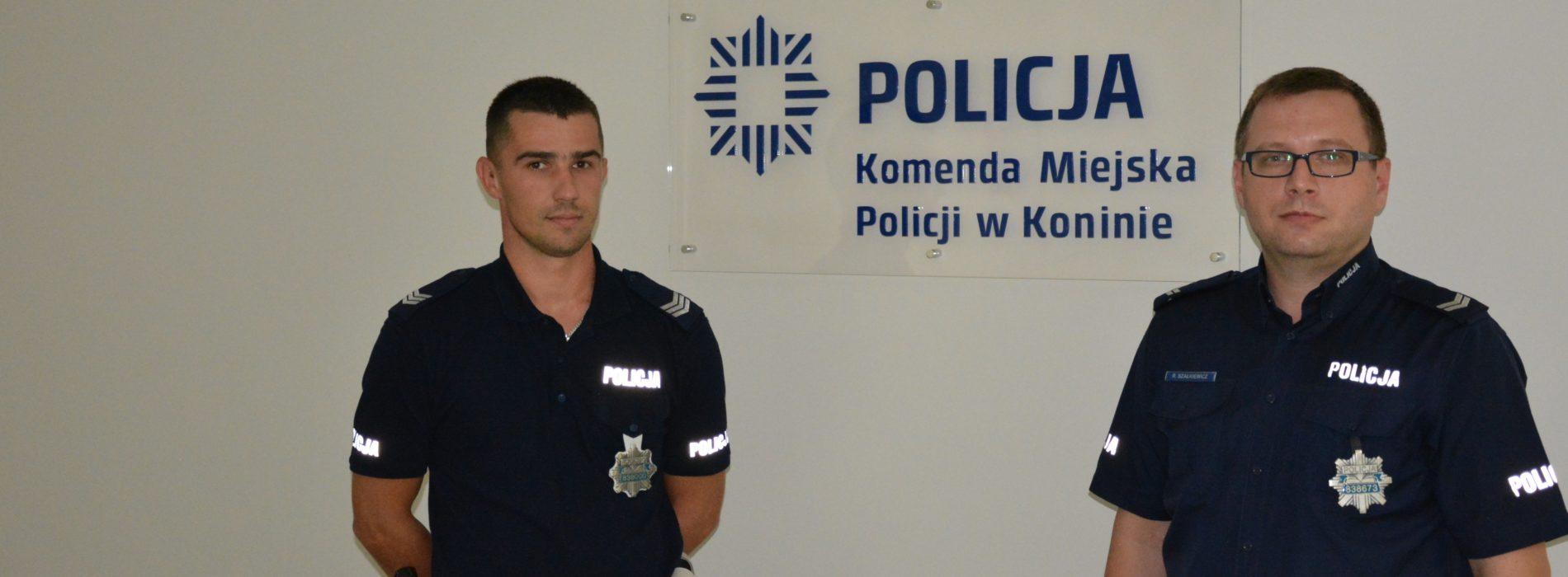 WYPEŁNILI ROTĘ ŚLUBOWANIA POLICJANTA